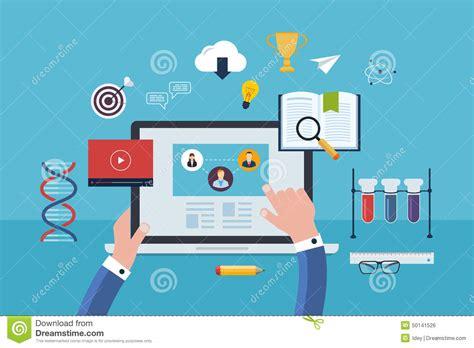 design online market flat design modern vector illustration icons set stock
