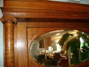 Antique Oak Fireplace Mantel by Antique Tiger Oak Fireplace Mantel With Beveled
