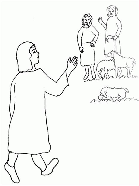 coloring pages of joseph and his coat of many colors joseph and his coat of many colors coloring page