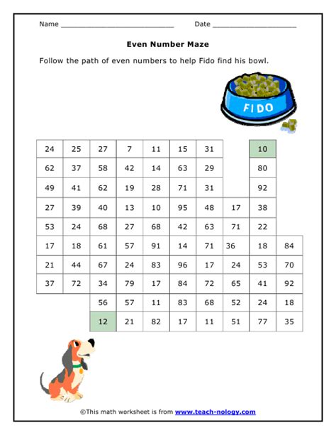 printable number maze even number maze even odd numbers unit pinterest