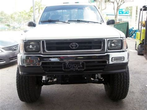 buy car manuals 1995 toyota tacoma electronic valve timing buy used 1995 toyota pick up truck lifted 35 inch tires manual transmission 4x4 new paint in