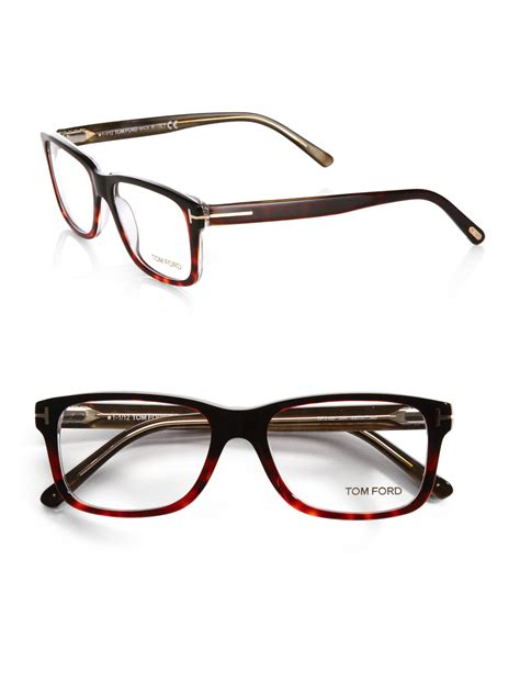 Frame Tomford525 lyst tom ford 5163 square optical frames in brown for