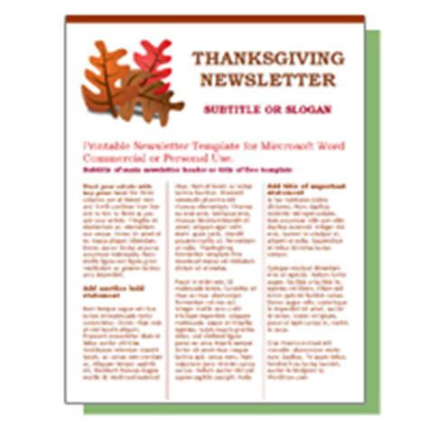 free november newsletter templates worddraw free newsletter templates for