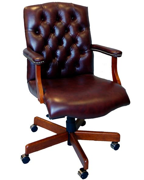 Leather Desk Chair Design Ideas Leather Wood Office Chair Cryomats Org