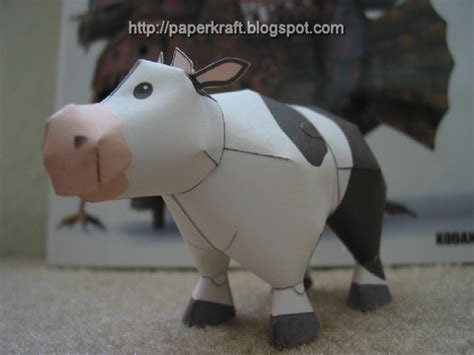 Papercraft Cow - harvest moon papercraft cow paperkraft net free