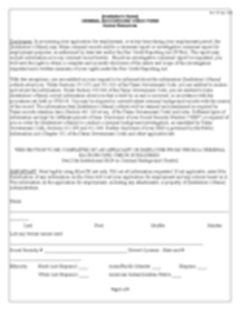 Criminal History Evaluation Letter Employment Forms 205 Free Templates In Pdf Word Excel