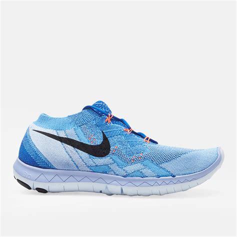 free flyknit running shoe shop blue nike free 3 0 flyknit running shoe for womens by
