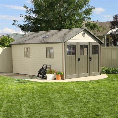 large lifetime garden shed    ft tri fold door