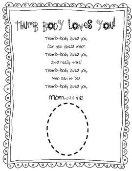 mothers day thumb body loves  poem  images