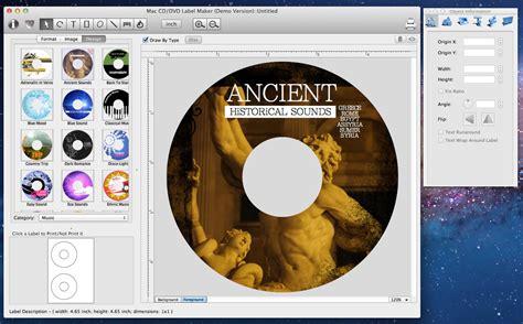 Cd Etiketten Drucken Programm by Mac Cd Dvd Label Maker Mac