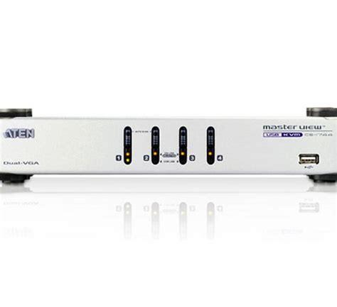Kvm Switches Aten 4 Port Usb Dual View Kvmp Switch 20170227 cs1744 aten 4 port usb dual view vga kvmp switch with