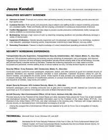 Airport R Cover Letter by Airport Security Screener Resume