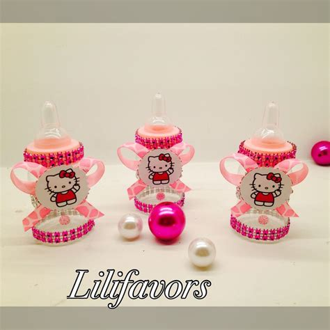 hello kitty baby shower themes 12 fillable baby girl shower bottles hello kitty pink
