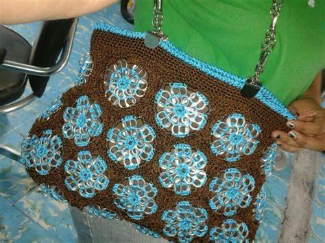 bolso para bebe tejida en crochet bolsa tejida a crochet con fichas de soda cosas que me