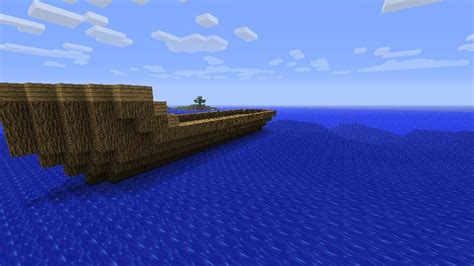 floating boat island boat and floating island come look minecraft project