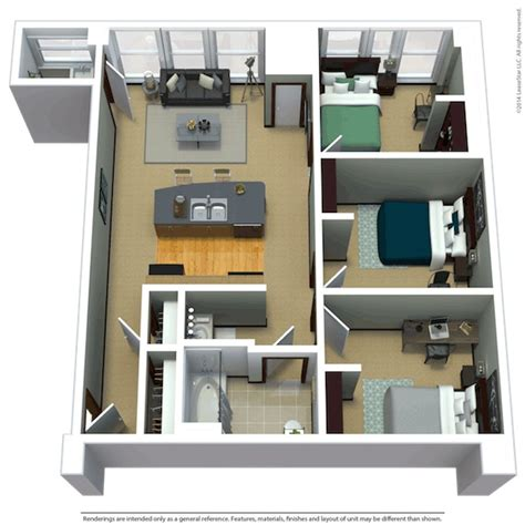 800 Sq Ft Apartment Floor Plan by Apartment Floor Plans Near Marquette The Marq