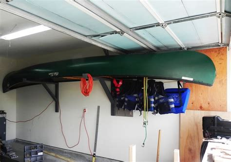 How To Hang Canoe In Garage by How To Hang A 17 Ft Canoe In A 19 Ft Garage The Canoe Is