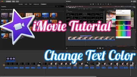 imovie tutorial adding text imovie tutorial how to change title text color youtube