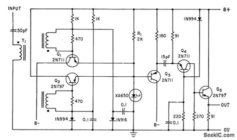 tunnel diode lifier circuit high speed tunnel diode binary basic circuit circuit diagram seekic