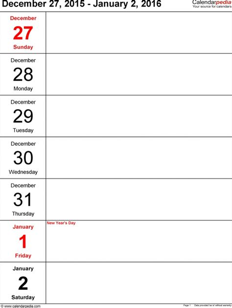 two week calendar template word one week calendar free calendar template
