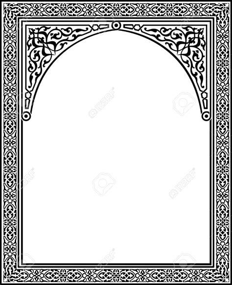 arabic pattern border 23185784 islamic arabesque style border frame with