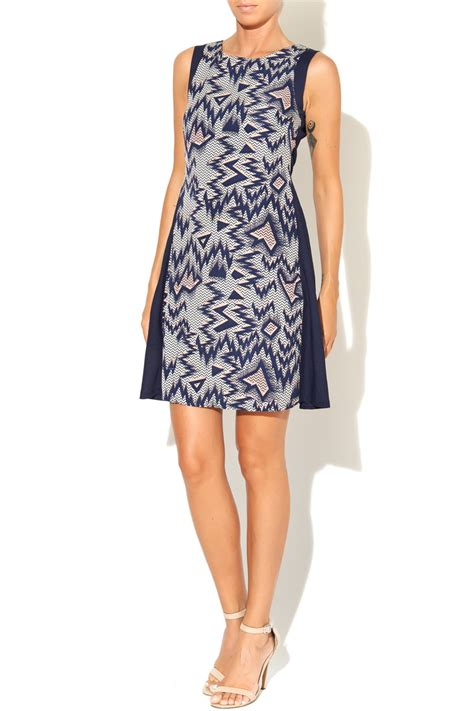 Dress Zigzag Ab kling navy zig zag dress from utah by q clothing shoptiques
