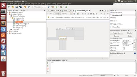 netbeans tutorial swing application create a swing application using netbeans swing builder