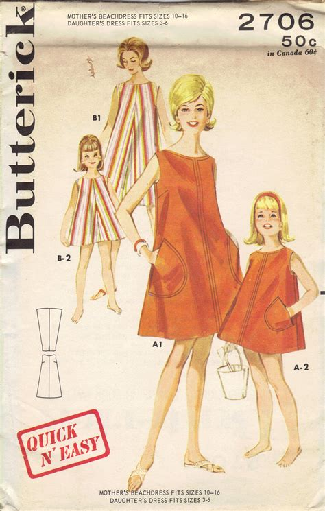 sewing pattern cover up butterick retro sewing pattern 1960s beach dress cover up