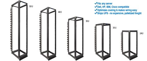 Rack Size by Open Frame Equipment Racks The Server Rack Faq