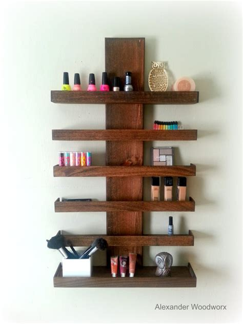 Shelf For Makeup by Makeup Organizer Wall Mounted Makeup Shelf Nail