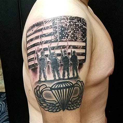 paratrooper tattoo us paratrooper veteran ink