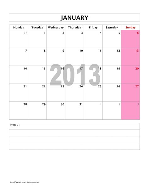 monthly calendar template for word 2013 monthly calendar