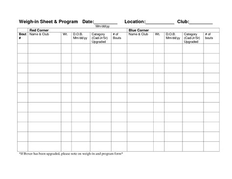 weekly weight loss chart template 9 best images of weekly weigh in chart template weekly