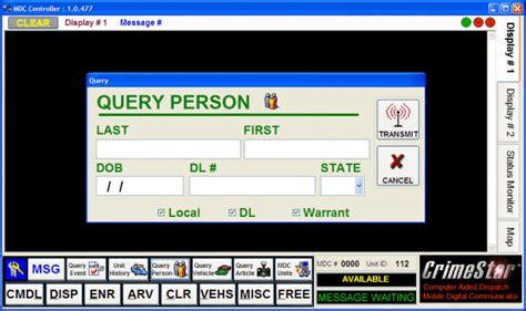 Cjis Search Software Crimestar Mobile Digital Communicator Mdc
