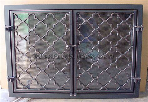 Custom Glass Fireplace Screens by Byron Two Door Screen Grandin Road Screens And