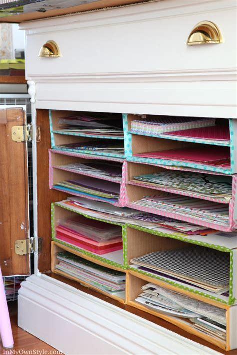 DIY Scrapbook Paper Organizer   In My Own Style