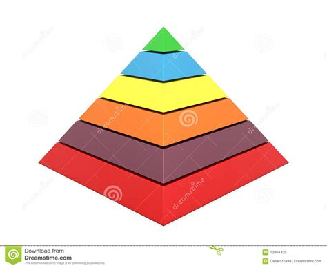 color pyramid pyramid chart multi color stock illustration image of
