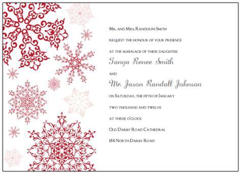Printable Snowflake Wedding Invitation Kits