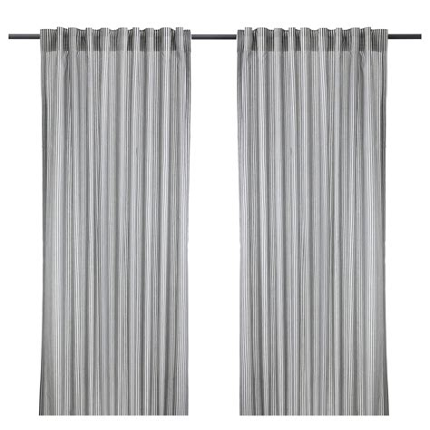White Grey Curtains Gulsporre Curtains 1 Pair White Grey 145x250 Cm Ikea