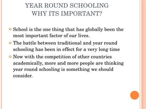 Should School Be All Year Essay by Should School Be Year