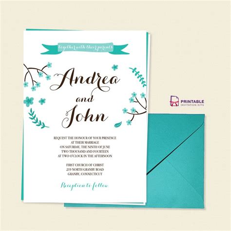 print at home invitations templates free pdf template floral calligraphy invitation template
