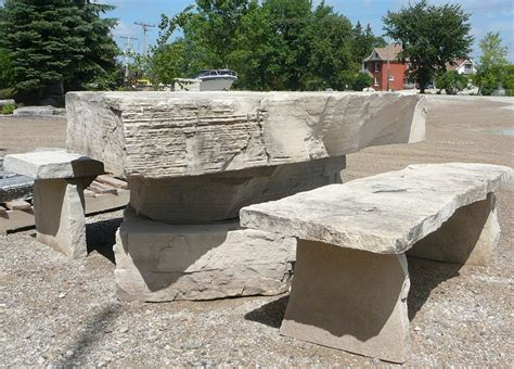 stone bench and table benches tables