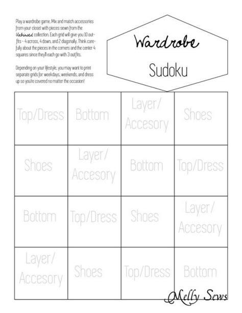 wardrobe sudoku planning a capsule wardrobe with