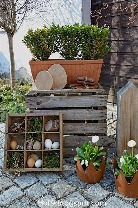 outdoor dekorationen osterdeko natur holzeier tonkr 252 ge tont 246 pfe diy