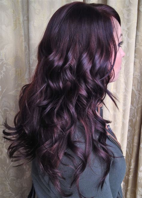 black plum hair color gorgeous shiny plum hair way to add some