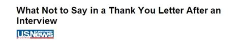 what not to say in a thank you letter after an