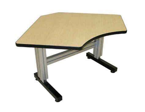 Ergonomic Corner Desk Equal Corner Manual Adjustable Height Desks Ergosource