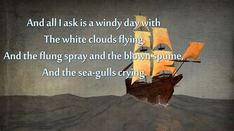 old boat poem sea fever by john masefield poetry reading youtube