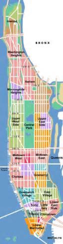 Manhattan Island Map New York by Schematic Map Of Manhattan Manhattan Schematic Map