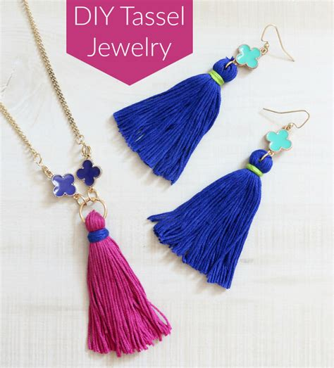 supplies needed to make jewelry diy tassel jewelry tutorial simple consumer crafts
